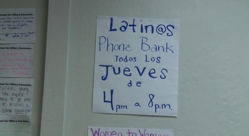 Los esfuerzos de Hillary Clinton en alcanzar votantes latinos en Reno