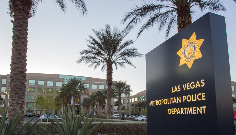 Frente del estación de policía en Las Vegas