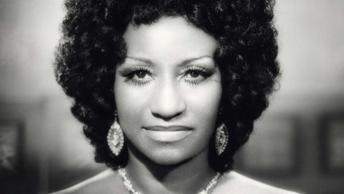 Foto antigua de Celia Cruz.
