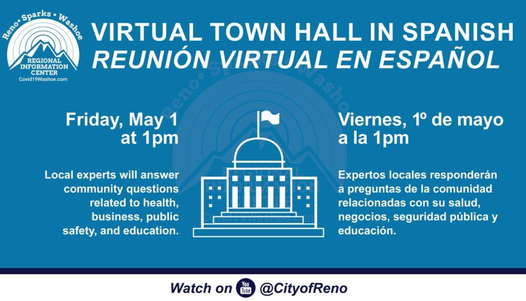 Gráfica sobre charla virtual con la senadora Catherine Cortez Masto