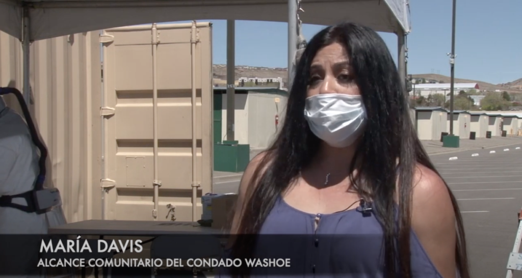 Maria Davis habla por video sobre COVID-19.