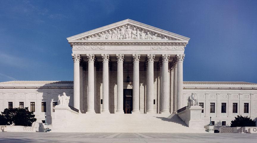Exterior de la Corte Suprema