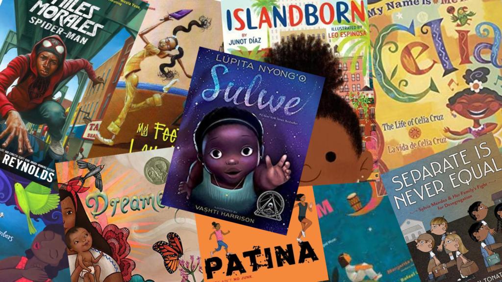 Portadas de libros infantiles sobre personas negras y latinas