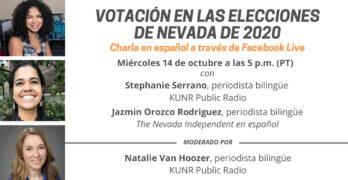 Una gráfica explica el evento virtual que se trató de preguntas y respuestas sobre la votación en las elecciones generales de 2020 en Nevada.