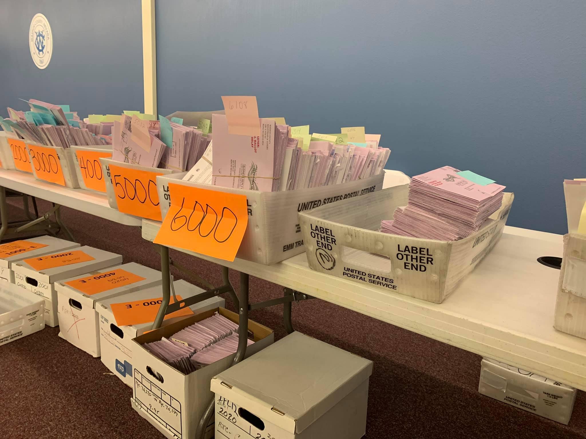 Boletas contadas de las elecciones primarias de junio de 2020