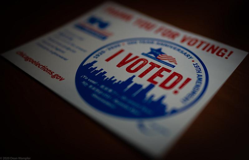 """Una pegatina que dice """"Yo Voté"""""""