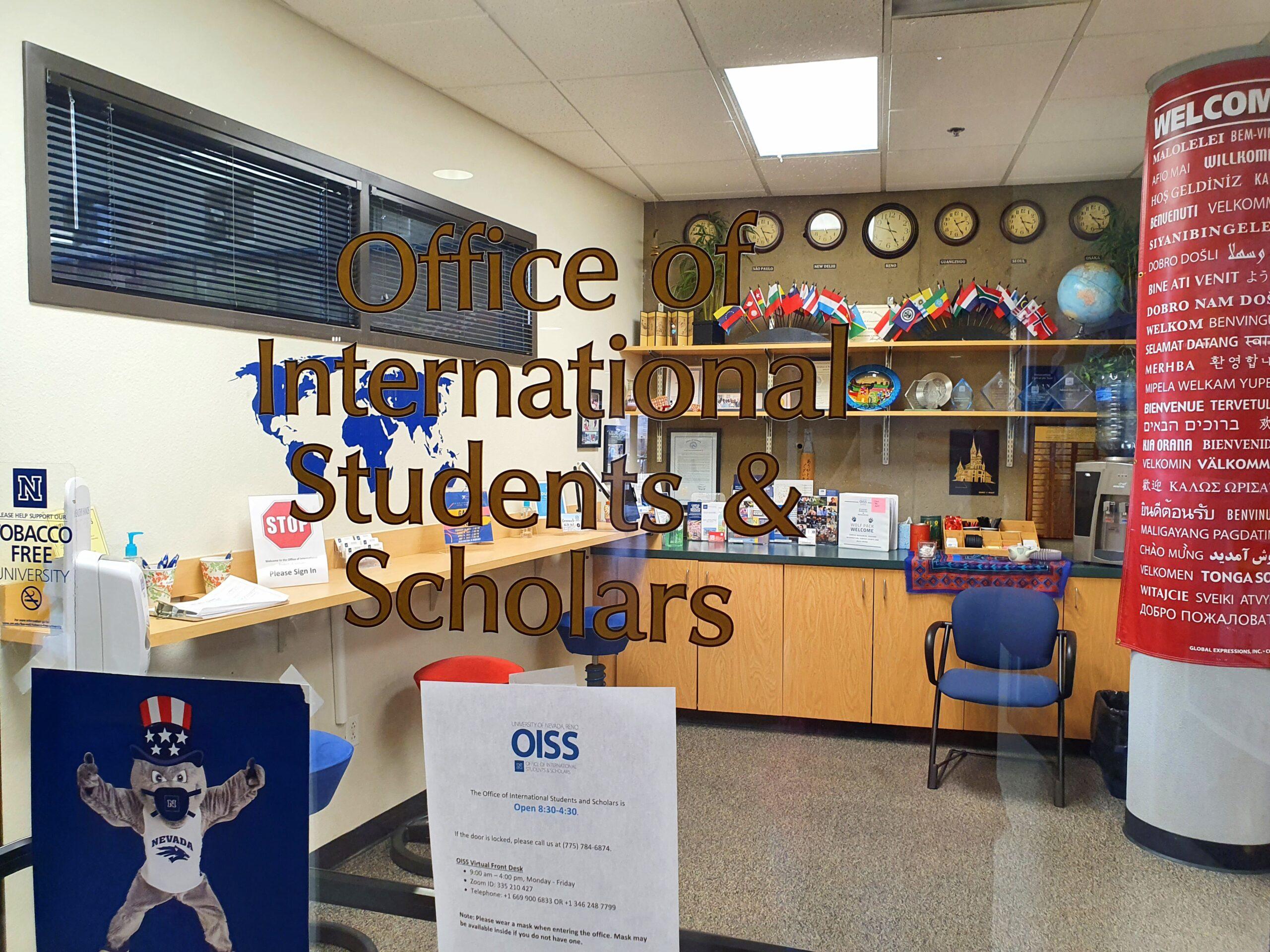 La fachada de la Oficina de Estudiantes Internacionales