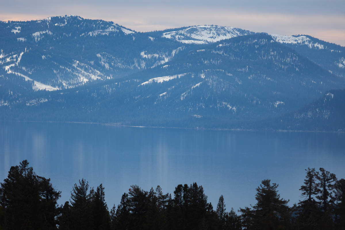 Mountains, lake and trees