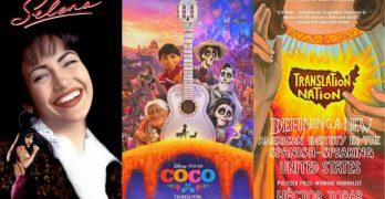portadas de películas selena coco y libro portada translation nation